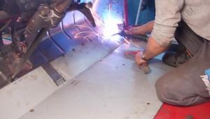 2CV Charleston granate restauración