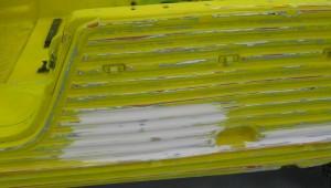 Restauración mehari amarillo
