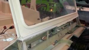 Mehari verde restauracion parabrisas