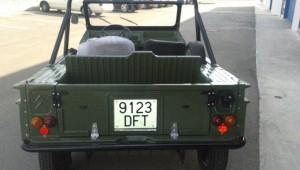 Mehari verde militar restauración